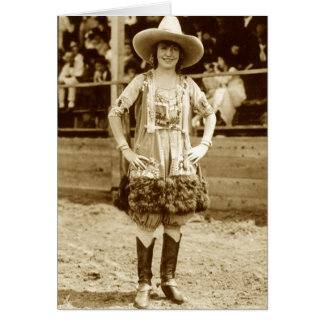 Classic Cowgirl Card