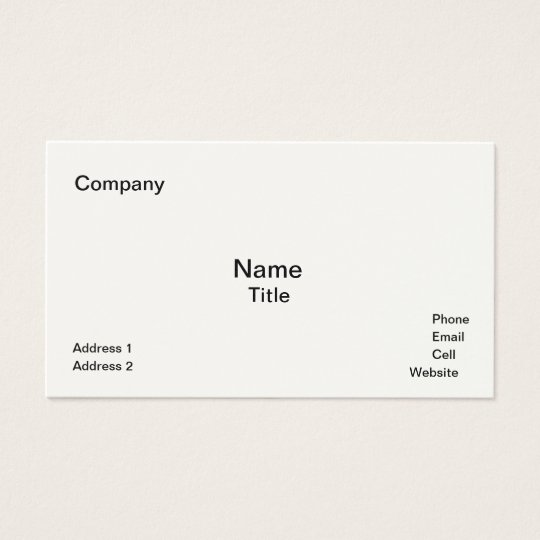Classic Cream-Coloured  Business Cards Template