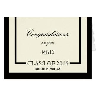 Classic Cream PhD Graduation Card