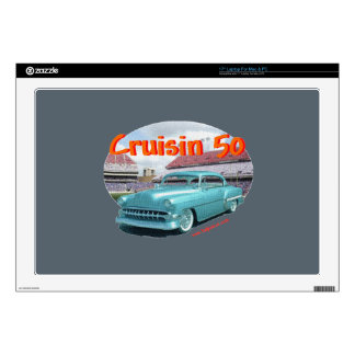 "Classic_Cruisin_1954_Chevrolet Decals For 17"" Laptops"