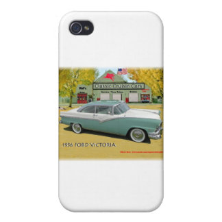 Classic Cruisin Cars1956 Ford Fairlane Victoria iPhone 4 Covers
