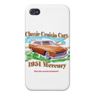Classic Cruisin Cars 1951 Mercury iPhone 4 Cover