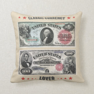 Classic Currency Lover Cushion