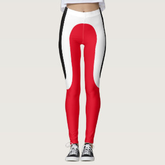 """Classic Curves"" Black/White/Red Leggings"