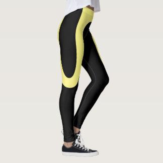"""Classic Curves"" Black/Yellow Leggings"