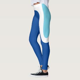 """Classic Curves"" Blue/White Leggings"
