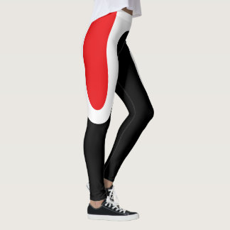 """Classic Curves"" Red/White/Black Leggings"