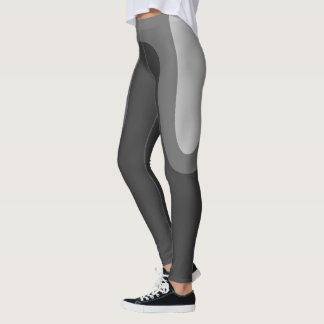 """Classic Curves"" Silver/Steel/Grey Leggings"