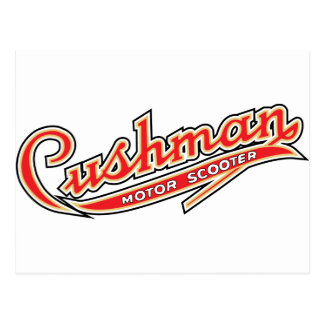 Classic Cushman Designs Postcard