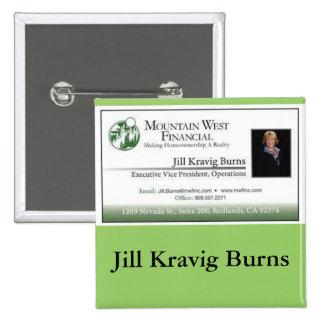 Classic Customizable Business Card Name Tag Pin