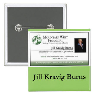 Classic Customizable Business Card Name Tag Pin