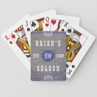 Classic Customizable Home Bar Beer Saloon Playing Cards