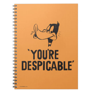 """Classic DAFFY DUCK™ """"You're Despicable"""" Notebook"""