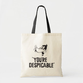 "Classic DAFFY DUCK™ ""You're Despicable"" Tote Bag"