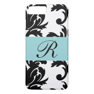 Classic Damask Pattern/Monogram - Iphone 8 Case