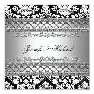 Classic Damask Wedding Party Invitation