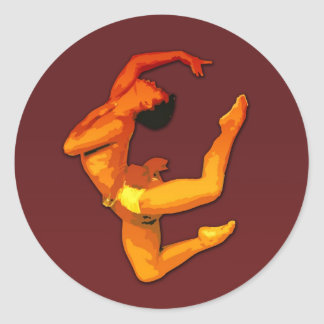 Classic dance round sticker