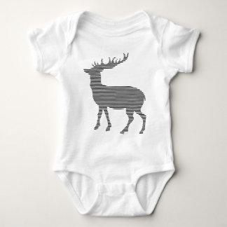 Classic deer silhouette baby bodysuit