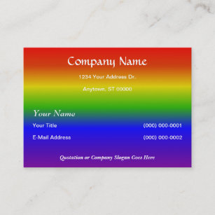 Rainbow design business cards business card printing zazzle uk classic design on rainbow background business card reheart Images