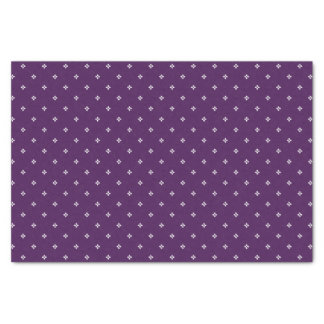 * Classic Diamond Florettes on Purple Tissue Paper