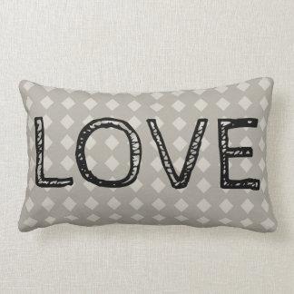 Classic Diamond LOVE Lumbar Pillow