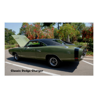 classic dodge charger poster