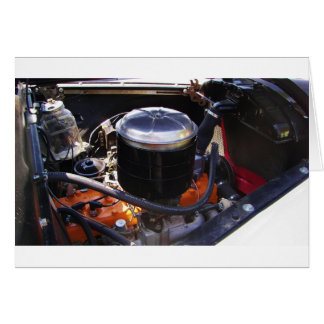 Classic Dodge Engine Bay. Greeting Card