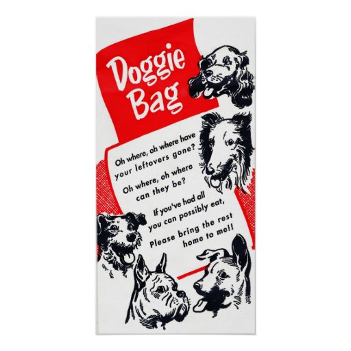Classic Doggie Bag Graphic Poster