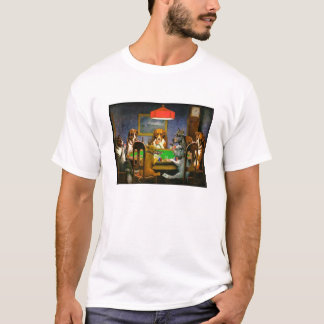 Classic Dogs Playing Poker Picture on Tee