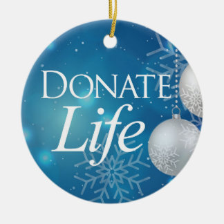 Classic Donate Life Christmas Ornament