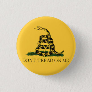 Classic Don't Tread on Me, Gadsden flag tea party 3 Cm Round Badge