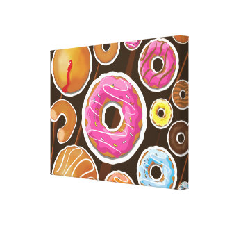 Classic Doughnut's Stretched Canvas Prints