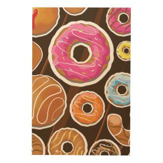 Classic Doughnut's Wood Print