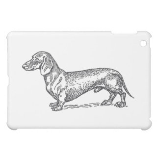 Classic Doxie - Black iPad Mini Cases