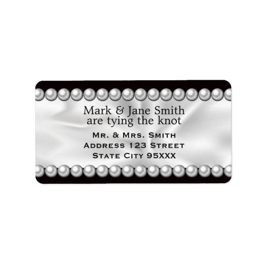 Classic Drapery with Pearls Address Label