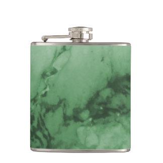 Classic Elegance Luxury | Green Marble Stone Hip Flask