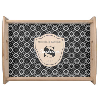 Classic Elegance w/Personalization Serving Tray