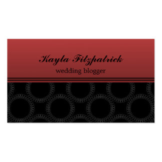 Classic Elegant Circles Business Card, Crimson Pack Of Standard Business Cards