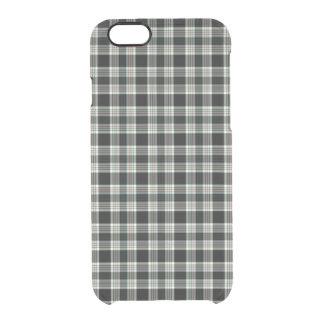 Classic Elegant Dark Preppy Plaid Tartan Pattern Clear iPhone 6/6S Case