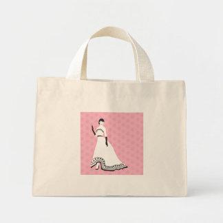 Classic Elegant Girl Tote Bags