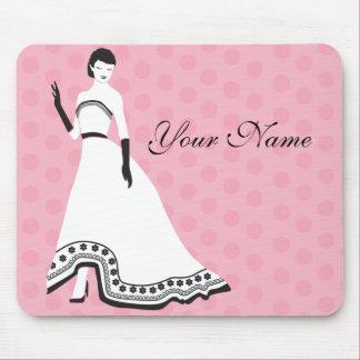 Classic Elegant Girl Mouse Pad
