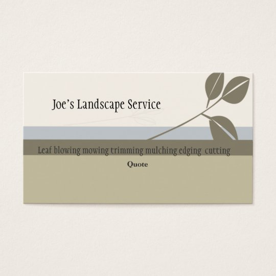 Classic Elegant  Landscaping Business Card