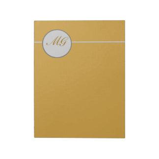 Classic Elegant Monogramed Lettering Notepad