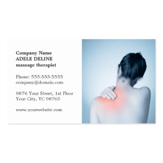 Classic Elegant Photo Massage Therapist Pack Of Standard Business Cards