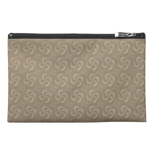 Classic Elegant Pink Damask Rose Pattern Travel Accessories Bag