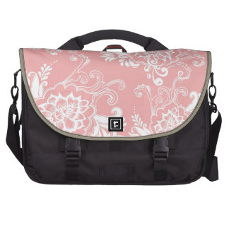 Classic elegant stylish girly yellow floral laptop bags