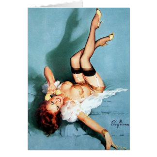 Classic Elvgren 1950s Vintage Pin Up Girl-On The P Card