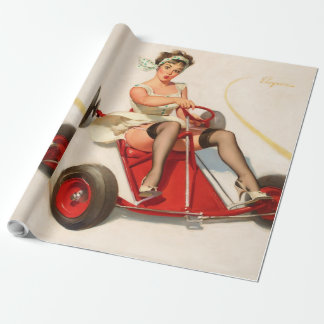 Classic Elvgren 1950s Vintage Pin Up Girl wall art Wrapping Paper