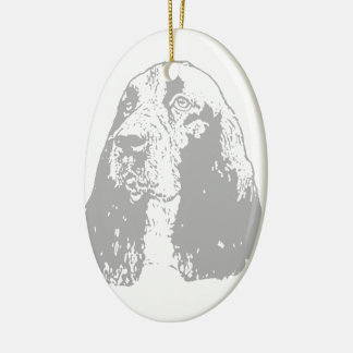 Classic English Springer Spaniel Ceramic Oval Decoration