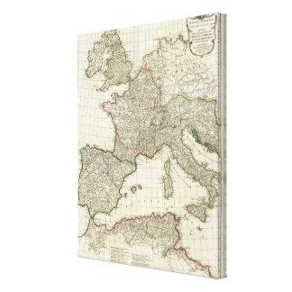 Classic European Map Canvas Print